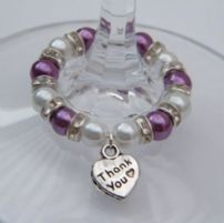 Thank You Wine Glass Charms